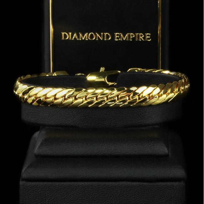 Pulsera serpientes cadena 19 cm x 5 mm 750er reales oro 18 quilates dorado b2019