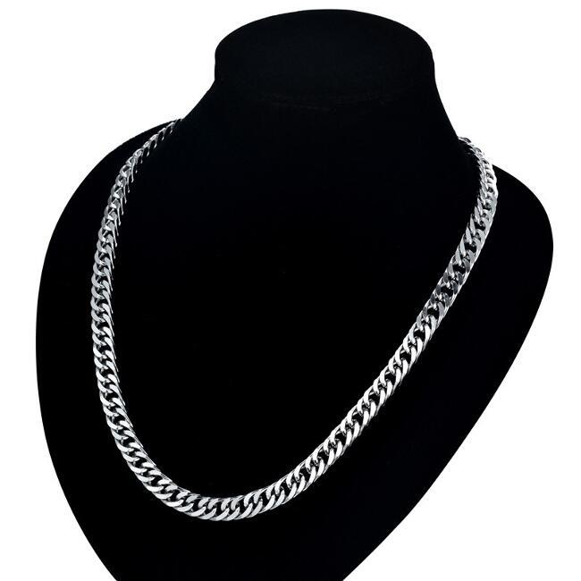 Set Herren Halskette Armband 7 mm 750er Gold 18 Karat vergoldet gelbgold S2857L