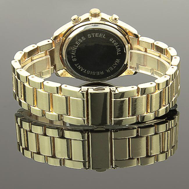 b1 ware damenuhr gold strass kristalle damen armband uhr quarz watch u1386 ebay. Black Bedroom Furniture Sets. Home Design Ideas