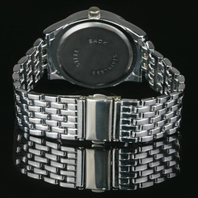 luxus damenuhr silber strass kristallen damen armband uhr watch u1391 ebay. Black Bedroom Furniture Sets. Home Design Ideas